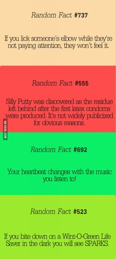 Some Random Stuff Random facts. The elbow licking had been pretty popular in our house for a whileRandom facts. The elbow licking had been pretty popular in our house for a while Wtf Fun Facts, True Facts, Crazy Facts, Silly Facts, Funny Quotes, Funny Memes, Hilarious, Funny Videos, The More You Know