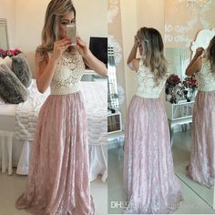 Sexy Long Skin Pink Bridesmaid Dresses 2017 Jewel Neck Pearls Belt Lace Wedding Party Dress Prom Gowns Bridesmaid Dresses Pink Bridesmaid Dresses Lace Bridesmaid Dresses Online with 112.0/Piece on Fashionhouse2020's Store | DHgate.com