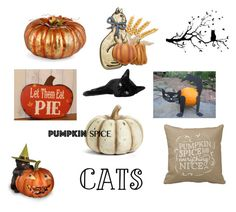 """""""Pumpkins & Pussycats.."""" by lizzysbibsandbobs ❤ liked on Polyvore featuring art"""