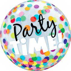 Balão Bubble Qualatex 56cm - Party Time! (Hora da Festa) - Magazine