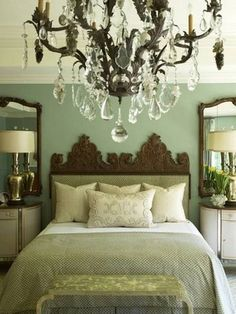 Master Bedroom Green Walls green & brown master bedroomsherwin-williams (i like the
