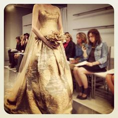 Gold wedding dress at THEA