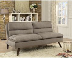 Coaster Furniture - Taupe and Walnut Sofa Bed - 500320 Grey Sofa Bed, Pink Sofa, Red Sofa, Futon Sofa, Brown Sofa, Sofa Beds, Sleeper Sofa, Coaster Furniture, Bed Furniture