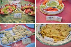 Harry Potter: Herbology sampler (veggy platter), Scroll Snacks (wraps), and dragon scales (chips).
