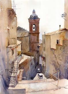 Agrigento #watercolor jd
