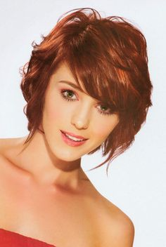Red-curly-A-line-bob