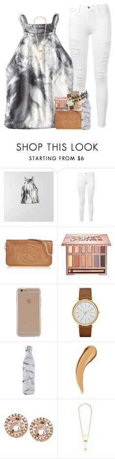 """""""mixed signals """" by ellaswiftie13 on Polyvore featuring American Eagle Outfitters, Frame Denim, Tory Burch, Urban Decay, Agent 18, Skagen, S'well and Forever 21"""