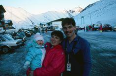 Christmas in Austria, 1987, Sami looks like a little frozen Burrito
