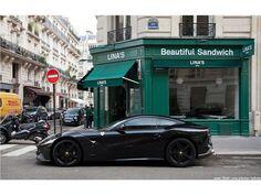 Murdered Out Ferrari F12 in Paris - 1