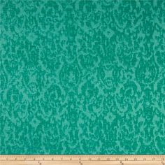Jersey Burnout Knit Abstract Damask Shamrock from @fabricdotcom  This very lightweight burnout jersey knit fabric is semi-sheer and features 10% mechanical stretch across the grain for comfort and ease. It is perfect for overlays on skirts, and dresses, as well as t-shirts.