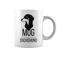 """MUG OF DACHSHUND PERFECT GIFT IDEA FOR DACHSHUND LOVERS.  Dishwasher Safe 11 oz. / 325 ml capacity ceramic mug Manufactured with Cactus Coatings® for maximized imprint area, vibrant color reproductions, and unsurpassed image durability. Maximum print area: 9"""" x 3 1/2"""" Size: 3 1/8"""" x 3 3/4"""""""