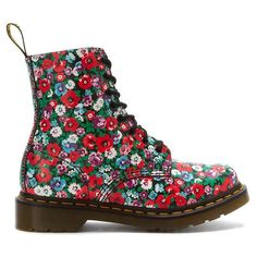 Dr. Martens Pascal - Black / Wild Poppy