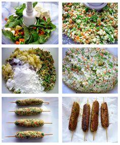 Veg Airfryer Recipes: OIL FREE VEGETABLE SEEK KABAB