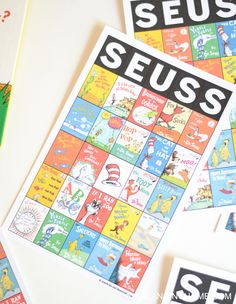 Dr. Seuss bingo printable activity