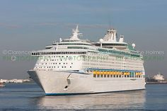 Royal Caribbean cruise ship Explorer of the Seas in New York Harbor prior to docking at the Cape Liberty Cruise Port in Bayonne, New Jersey