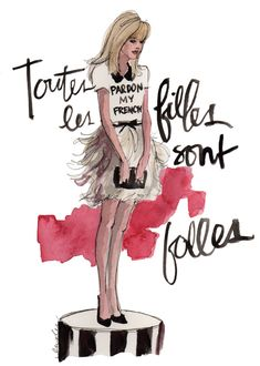 #dresscolorfully ksny fall 2012 collection, illustration by inslee by design