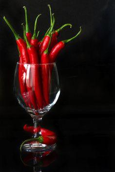 Fresh ripe chili peppers