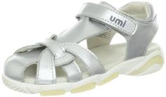 """umi Natalia Sandal (Toddler/Little Kid/Big Kid) umi. $49.95. Cushioned insole. Made in Indonesia. Flexible outsole. Heel measures approximately 1.25"""". Rubber sole. leather"""