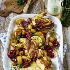 Maispoulardenbrust mit Zitronenkartoffeln Rezept
