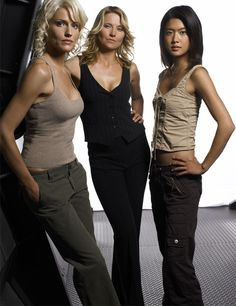 Some of the cylon girls from Battlestar Galactica.