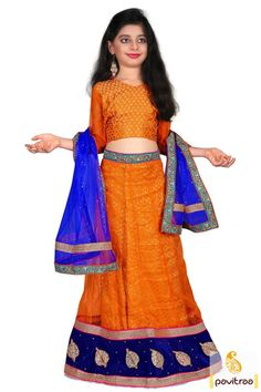 Recommend your little kid a nice look with this orange kids lehenga choli with net with festival discount. It is graceful to have it online with Cash On Delivery and free shipping India. #kidgirllehengacholi, #babychaniyacholi, #babynavratrichaniyacholi, #babyghaghracholi, #girllehengastyle, #discountoffer,   #pavitraafashion, #utsavfashion, #kidswearshopping http://www.pavitraa.in/store/kids/ callus:+91-7698234040