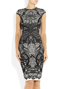 I so want this dress! - Alexander McQueen|Wool-blend intarsia dress|  £942.60
