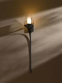 Hubbardton Forge Direct wire wall sconce with glass options: Antasia large.