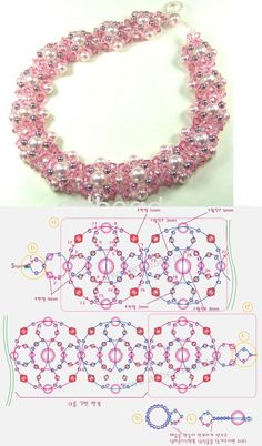 free seed bead patterns and instructions Diy Bracelets Patterns, Beaded Necklace Patterns, Seed Bead Patterns, Beading Patterns, Seed Bead Bracelets, Seed Bead Jewelry, Bead Jewellery, Seed Beads, Embroidery Jewelry