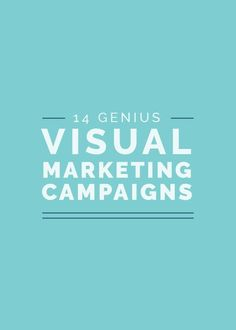 "14 Genius Visual Marketing Campaigns - ""What makes a viral campaign?"" It's a burning question every entrepreneur should be asking, - Business Marketing, Content Marketing, Social Media Marketing, Marketing Strategies, Branding Strategies, Business Entrepreneur, Creative Business, Business Tips, Online Business"