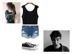 """""""Untitled #83"""" by selena-cage ❤ liked on Polyvore featuring rag & bone and Converse"""