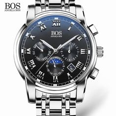ANGELA BOS Sub Dial Work Waterproof Luminous Mens Watches Top Brand Luxury 2016 Men's Watches Quartz-watch Wrist Watches For Men Like if you are Excited!  #shop #beauty #Woman's fashion #Products #Watch