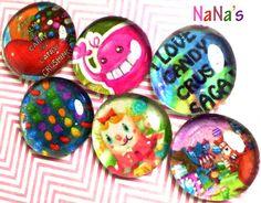 6 piece set of fun Candy Crush Saga by NanasHomeCraftsShop on Etsy, $8.75