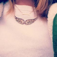 Pi Beta Phi angel wing and arrow necklaces #piphi #pibetaphi