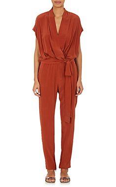 L'Agence Olivia Silk Wrap Jumpsuit - Dresses - 505068952