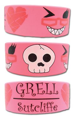 Wristband BLACK BUTLER NEW Grell Sutcliff Pink Anime Cosplay Licensed ge54025 I need this.