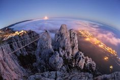 Ai-Petry. Night, Full Moon. Photo by Denis Belitsky -- National Geographic Your Shot
