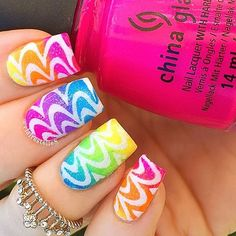 OMG love this!!! @clairestelle8 @clairestelle8 used ✨Watermarble Stencils✨ from our website, TwinkledT.com! It looks like a real watermarble mani and I love it!!!