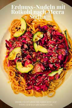 Friday Night Dinner Date: Nudeln mit Rotkohl und Chiliöl Friday Night Dinners, Bastilla, Date Dinner, Yummy Food, Yummy Recipes, Cabbage, Vegetables, Japan, God