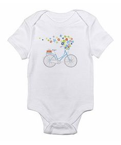 Look at this White Flower Bicycle Bodysuit - Infant on #zulily today!
