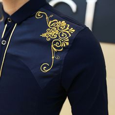 Image result for embroidered shirt men