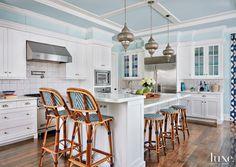 blue and white kitchen | Terri Pakravan