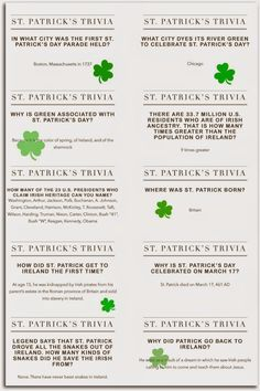St. Patrick's Day Trivia Questions -- Do you know which Presidents claim Irish heritage?