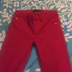 Highwaisted Jeans Red Highwaist Jeans, never worn, no stretching, but no tags. Jeans Skinny