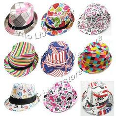 Baby Girl Fedora Hats   Girls Canvas Fedora Hat Kids Jazz Cap Baby Girls Summer Sunbonnet Baby ...