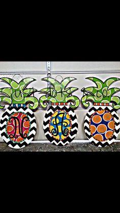 Pineapple Door Hanger By JustDotsCo On Etsy