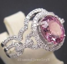Pink Diamond Jewelry - rare and expensive, how much do they cost? Pink Wedding Rings, Custom Wedding Rings, Jewelry Rings, Fine Jewelry, Jewellery Box, Jewelry Ideas, Jewlery, Tourmaline Jewelry, Pink Tourmaline Ring
