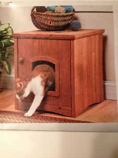 Use This Convenient Cabinet Style Cat Washroom With Door To Conceal Your  Catu0027s Litter Box.
