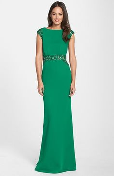 Pamella, Pamella Roland Embellished Crepe Gown available at #Nordstrom