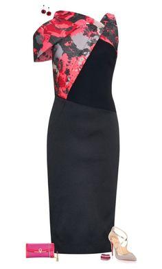 """Unique neckline"" by julietajj on Polyvore featuring Antonio Berardi, Christian Louboutin, Salvatore Ferragamo, Kate Spade, Swarovski and Dolce&Gabbana"