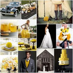 BLACK/WHITE/MARIGOLD - GREAT COLOR INSPIRATION  postcards and pretties: {#44} marigold and winter gray inspiration board